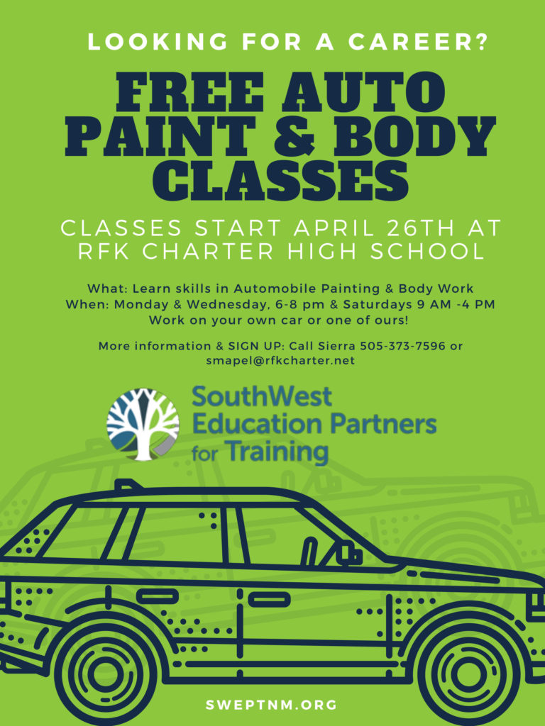 FREE Auto Paint and Body Classes